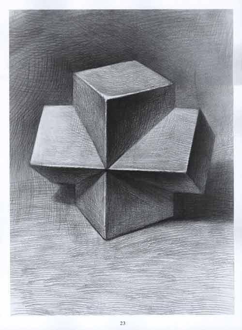 素描几何体-石膏几何体绘画注意问题图片