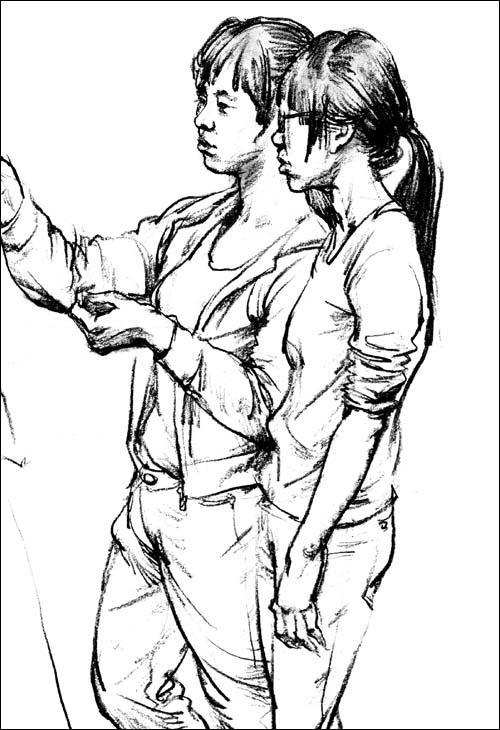 手绘漫画手部练习
