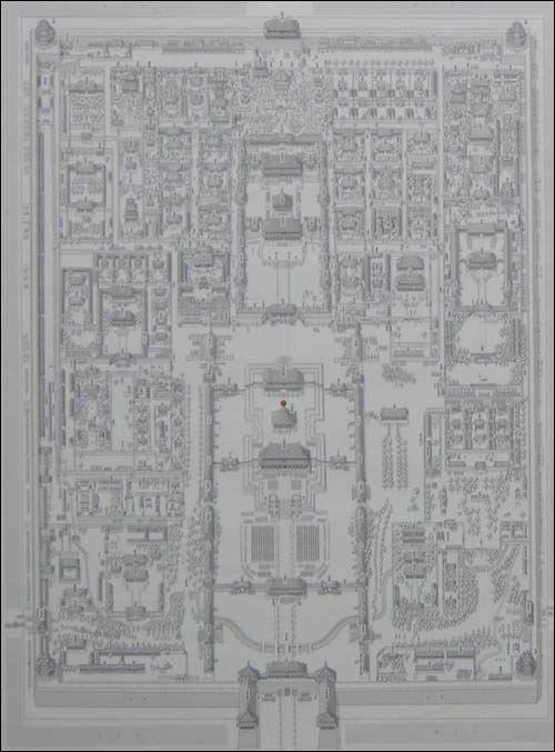 特别附录紫禁城手绘地图