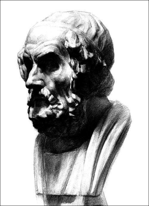 临摹素描石膏像(赣美版)图片