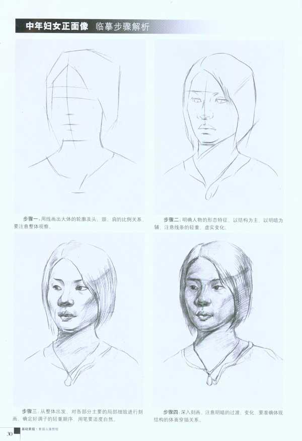 基础素描 素描头像教程