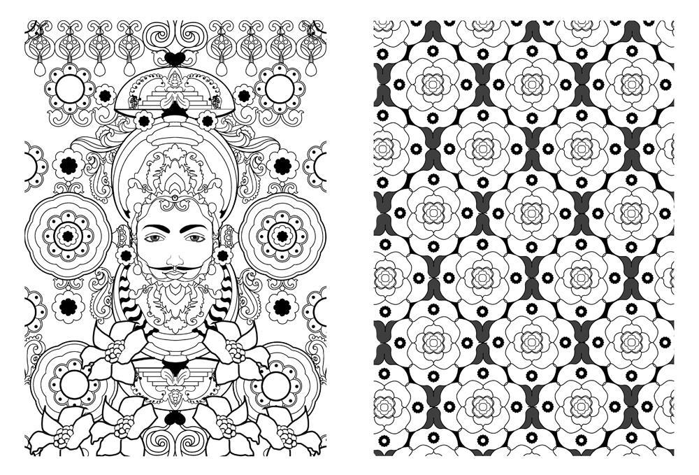 手绘曼陀罗图案步骤