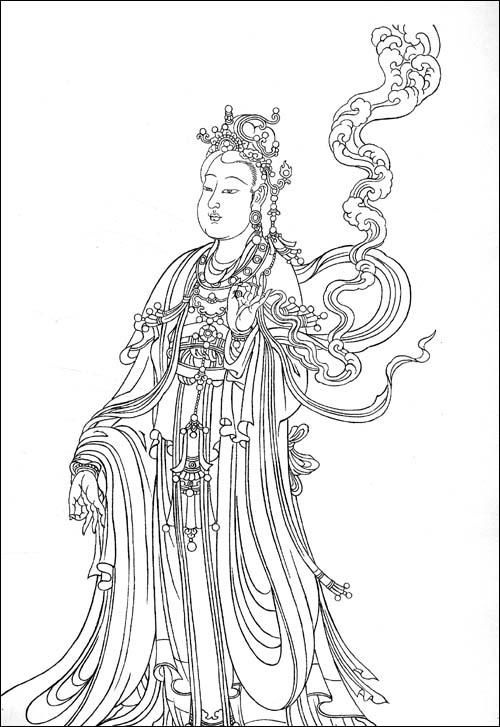 法海寺 壁画 线描临摹范本 尚泰安 绘画 作品 文轩
