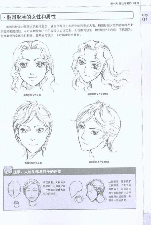 第三天 随心绘制超炫的发型  头发的基础知识  俏丽的短发  随意的图片