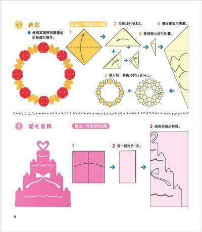 蛋糕剪纸步骤图解