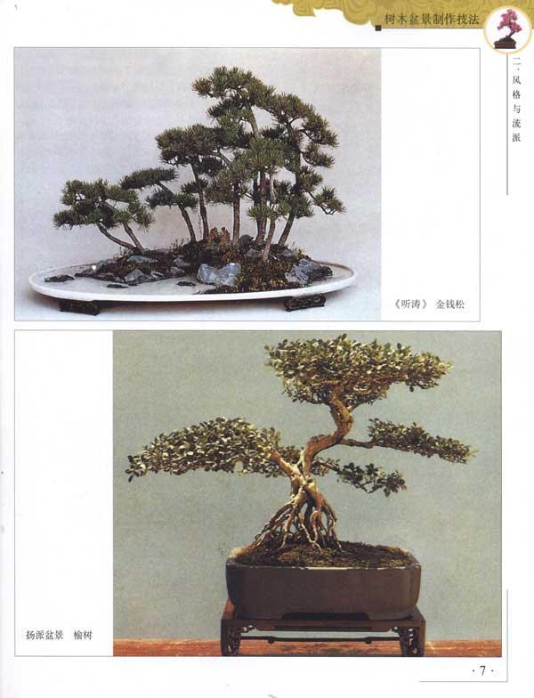 树木盆景制作技法;; 书摘插图;