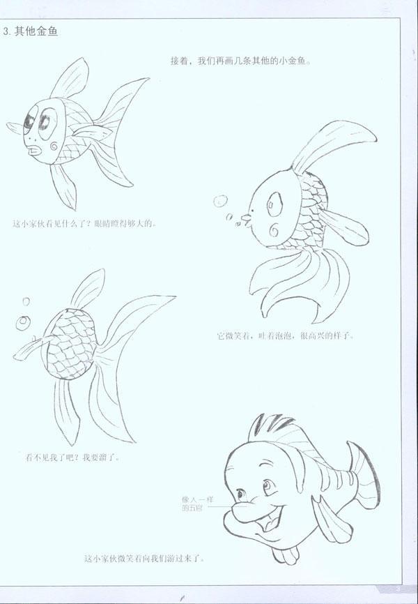 目录 第一章卡通动物的画法 一卡通鱼