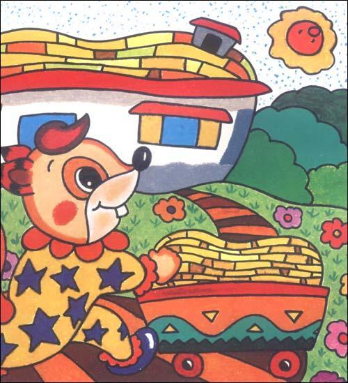 中小学油画棒卡通人物画画家教佳木斯初中图片