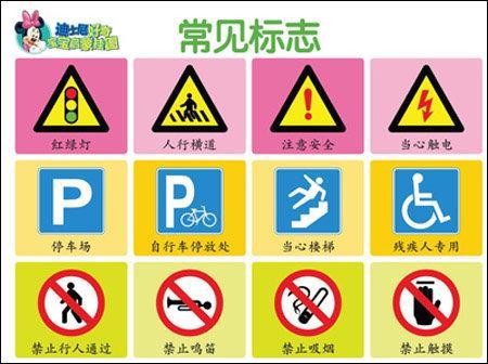 儿童交通标志简笔画