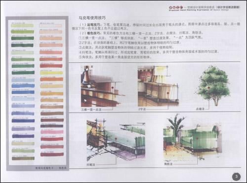 一点透视客厅   两点透视客厅   中式客厅 公装空间手绘表达实例