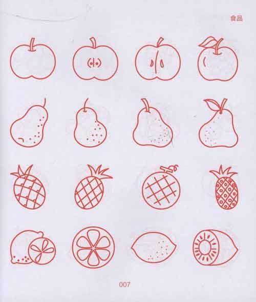 儿童简笔画大全水果 简笔画图片大全水果类 水果简笔画大全大图