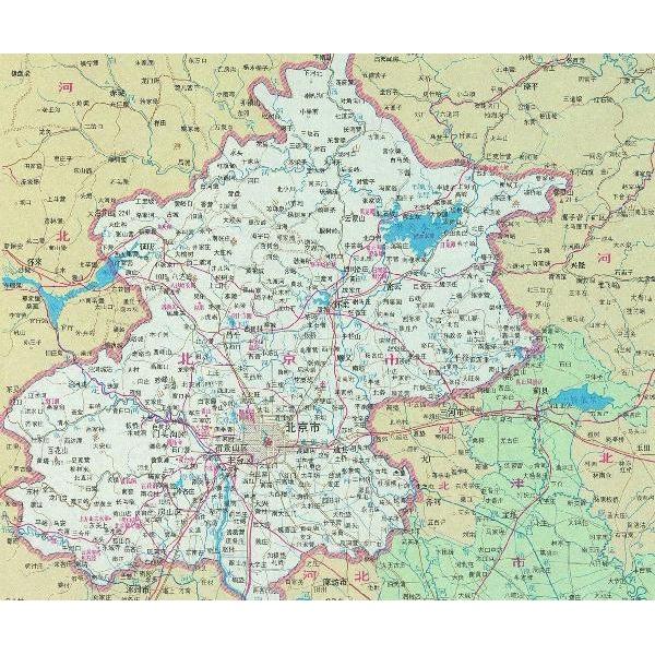 北京城市地图(全盒装)
