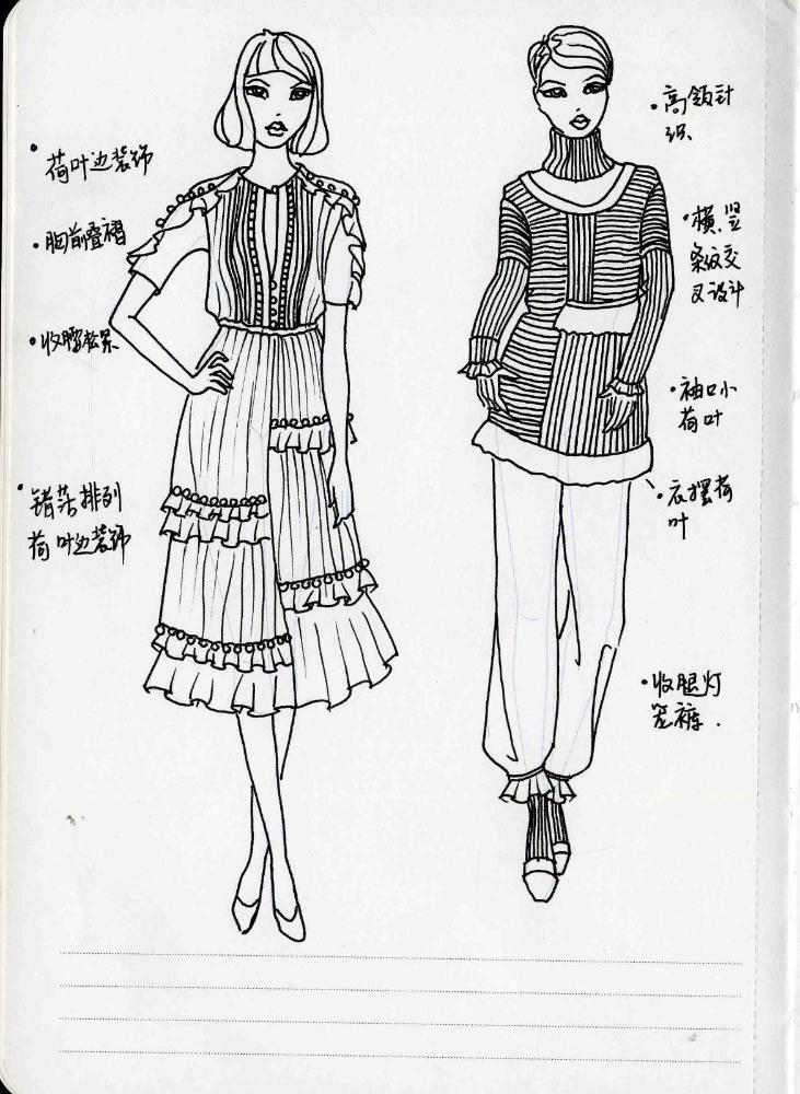 服装人体_服装设计师实用人体模板