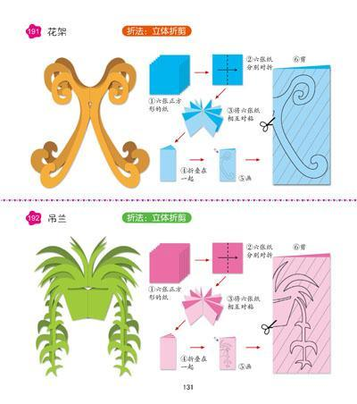 窗花的剪法步骤图植物